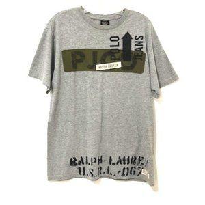 Ralph Lauren Polo Jeans Co. Gray Cotton T-Shirt